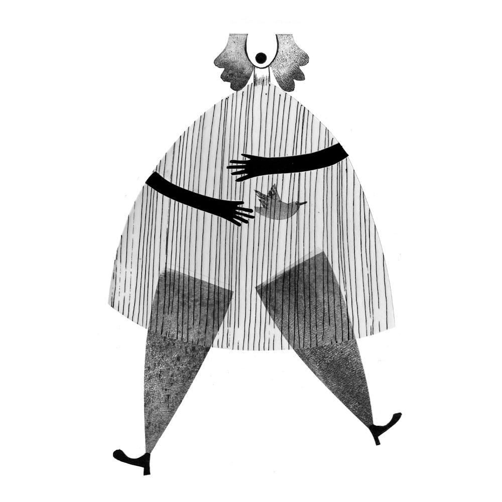 señora atún con pan cuadrada